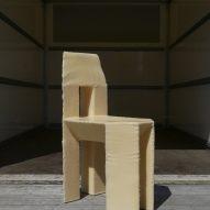 A single polystyrene chair