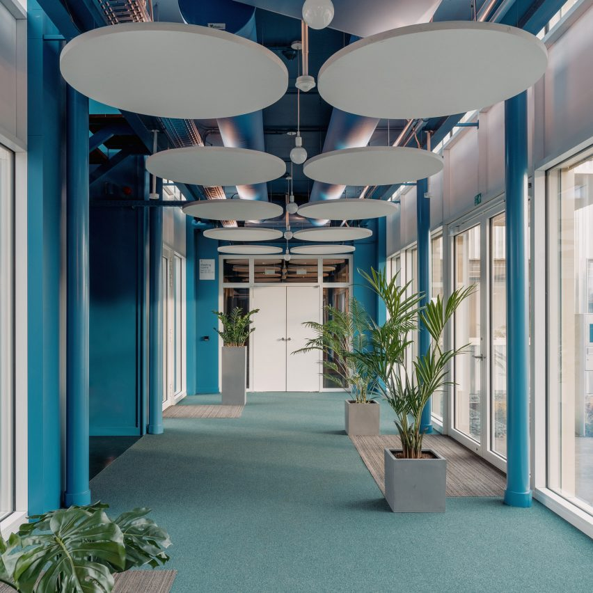 Studio Anton Hendrik Denys designs Belgian office informed by 1960s colour schemes