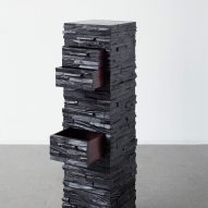 Rasmus Fenhann's axe-marked ebony wood cabinet hides seven drawers