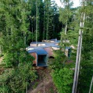 Florian Busch embeds branch-shaped holiday home in Japanese forest
