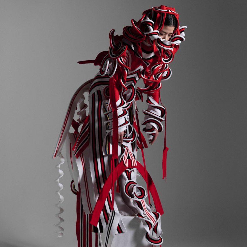 Sculptural forms make up the designs