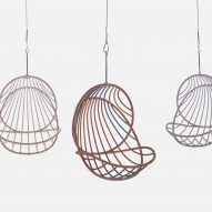 Stephen Burks designed the hanging chair