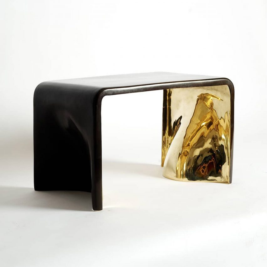 Khetan bench and console by Elan Atelier
