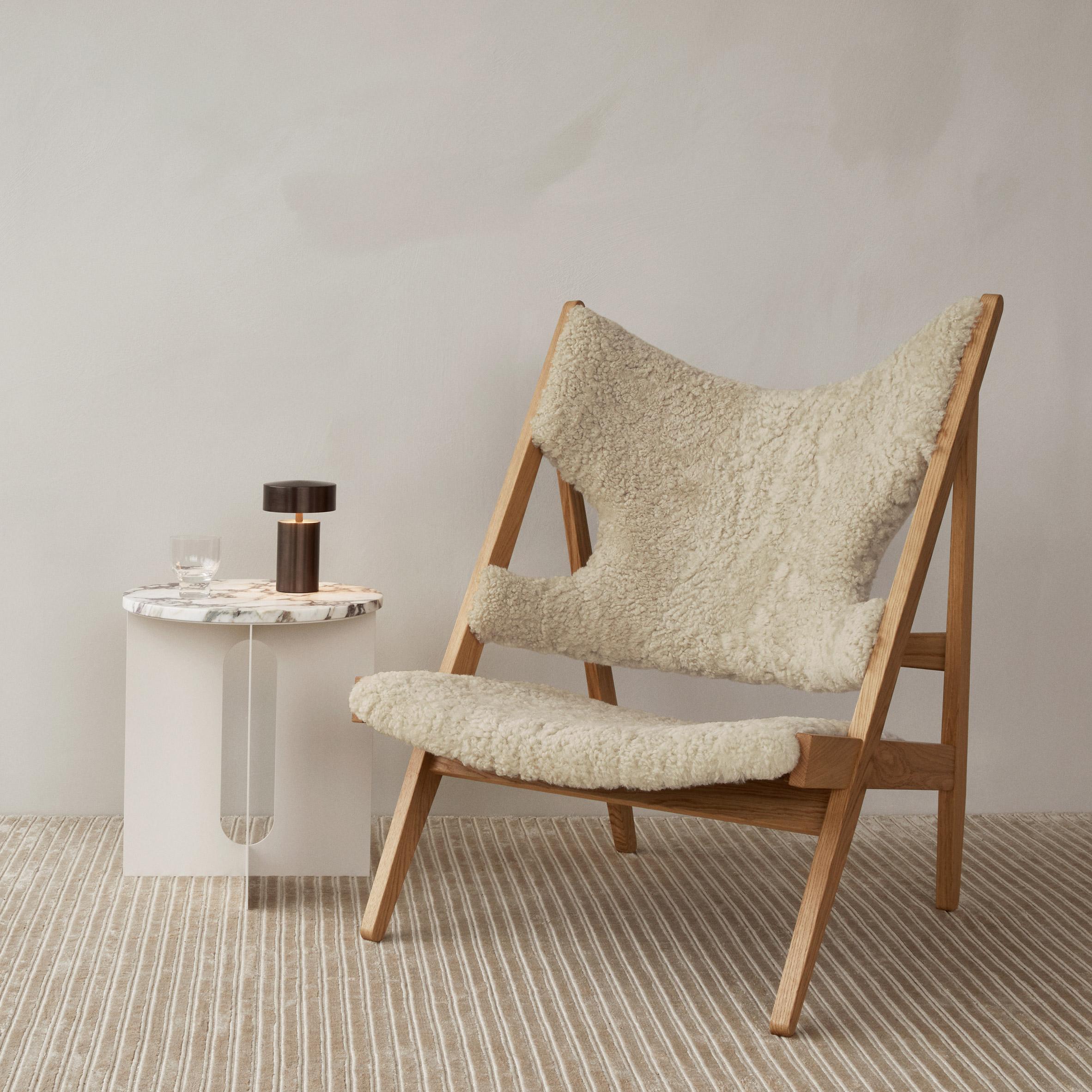 Knitting lounge chair by Ib Kofod-Larsen via Menu