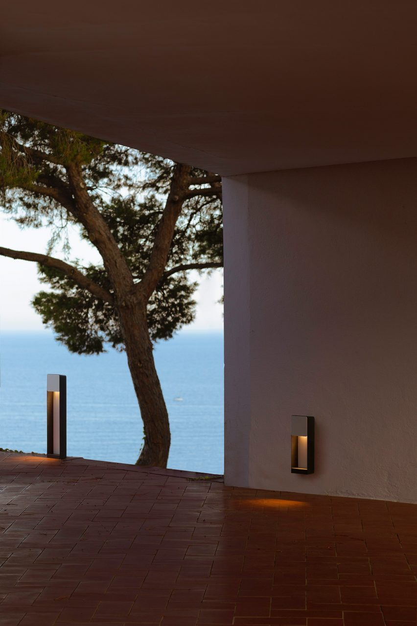Lab outdoor lamp by Francesc Rife for Marset on a terrace