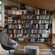 Watch our video roundup of living rooms with statement shelving