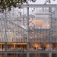 Mecanoo designs Macau Central Library with light-filtering facade informed by books