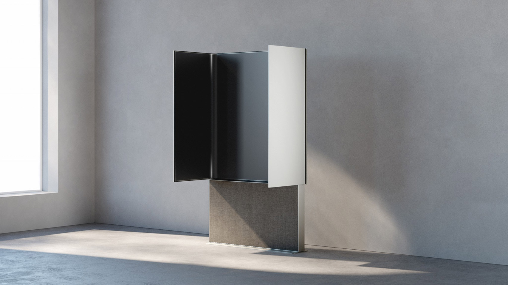 Monolith by Andre Cardoso foldable TV on the Dezeen and LG Display OLED Go shortlist