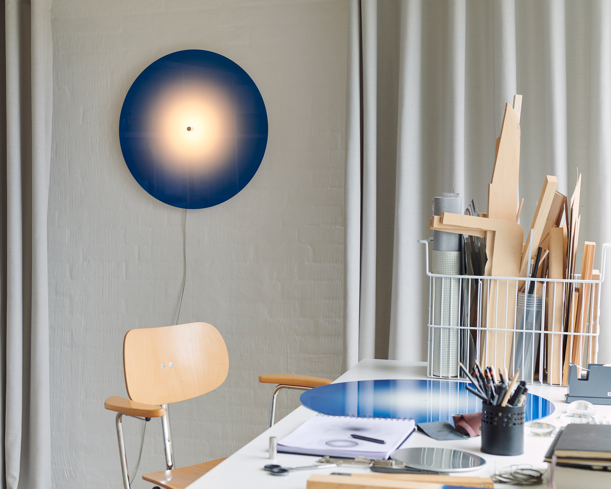 Ombre Light by Mette Schelde in a studio space