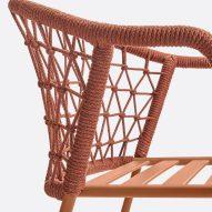 Hand woven backrest
