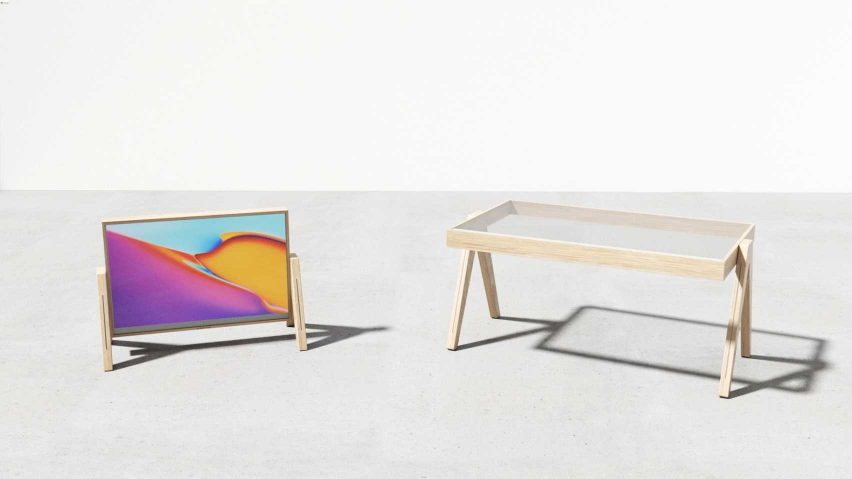 TVBLE by Dunsol Ko tiltable OLED screen table