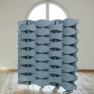 Textile Veneer screen by Else-Rikke Bruun in The Mindcraft Project