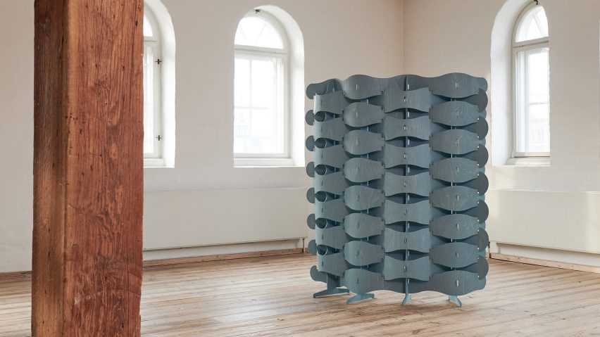 Textile Veneer screen by Else-Rikke Bruun in The Mindcraft Project