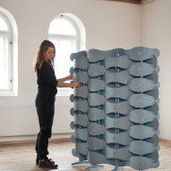 Else-Rikke Bruun assembles the Textile Veneer screen
