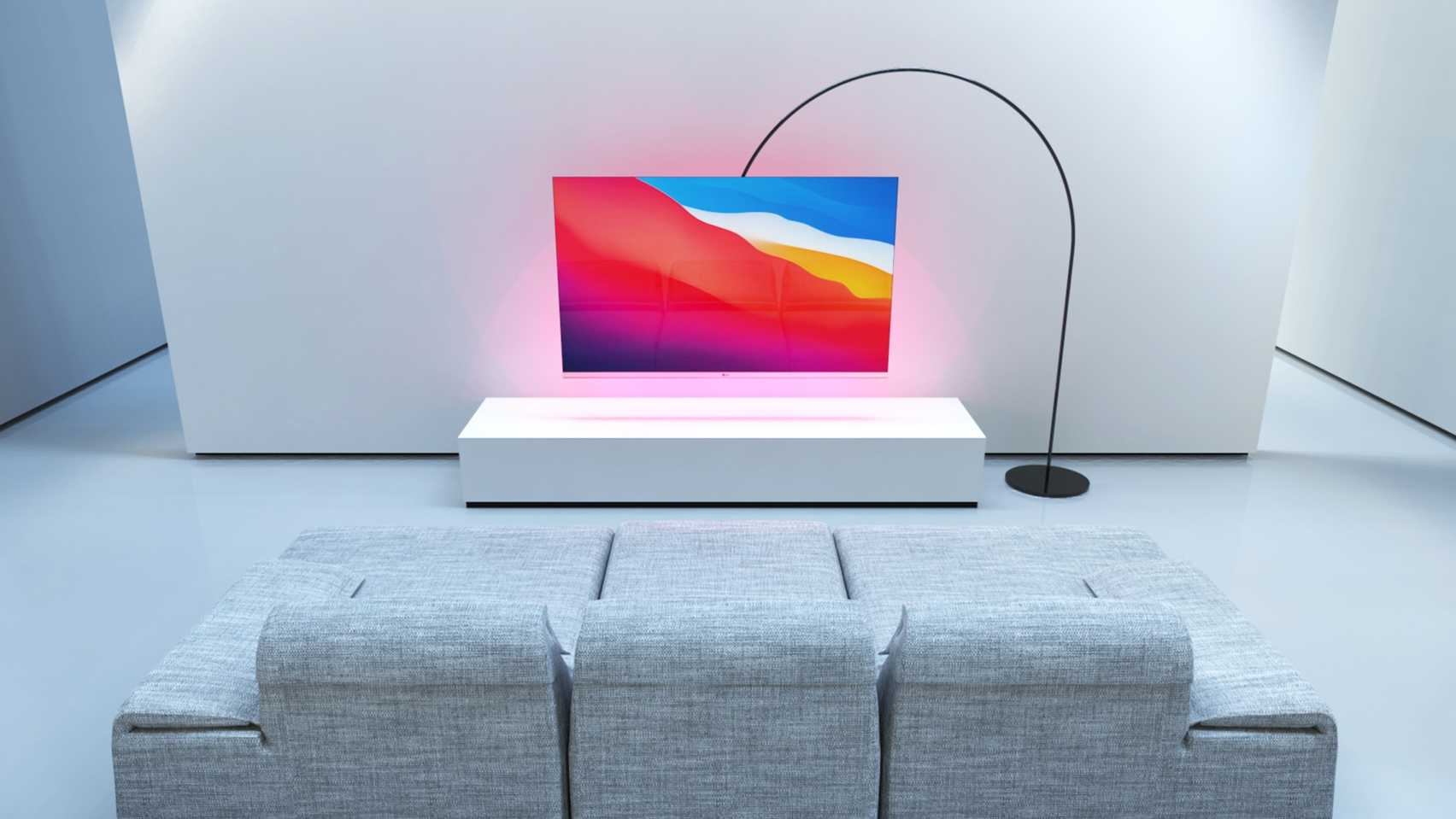 UcmaG by Sedat Özer suspended screen for Dezeen and LG Display's OLED Go Competition