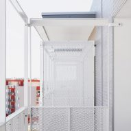Perforated metal sheets provide privacy