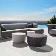 Tonal grey outdoor furniture by Marcel Wanders for Vondom