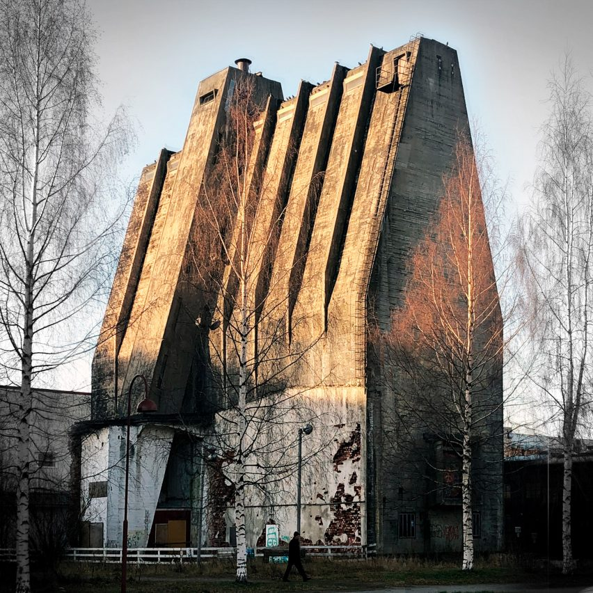 A silo designed by Alvar Aalto in Oulu