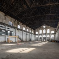 A vacant gas plant by constructed in 1905 by Spanish architect Luis de Landecho