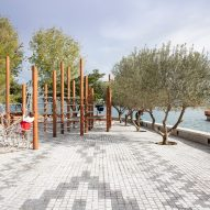 The patterned Albanian Carpet landscape project by Casanova+Hernandez Architects