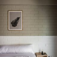Brick walls are painted with neutrals