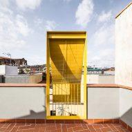 Yellow balcony on the terrace