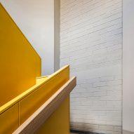 Yellow runs throughout the design