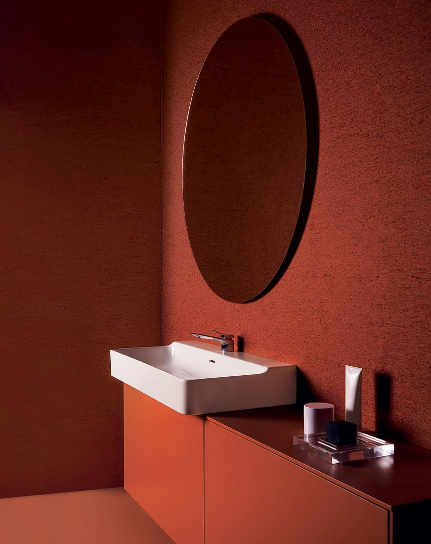 A washbasin and bathroom furniture by Ideal Standard