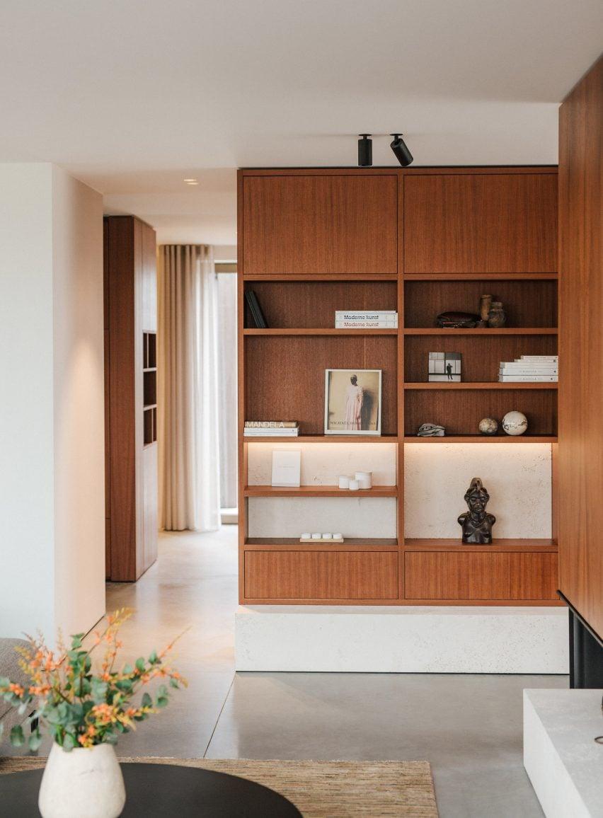 Bookshelves in Penthouse BV by Adjo Studio