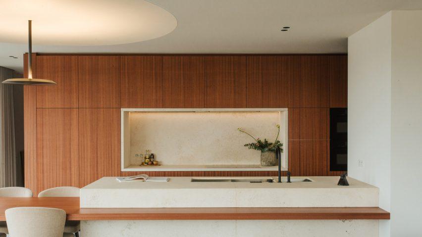 Kitchen in Penthouse BV by Adjo Studio