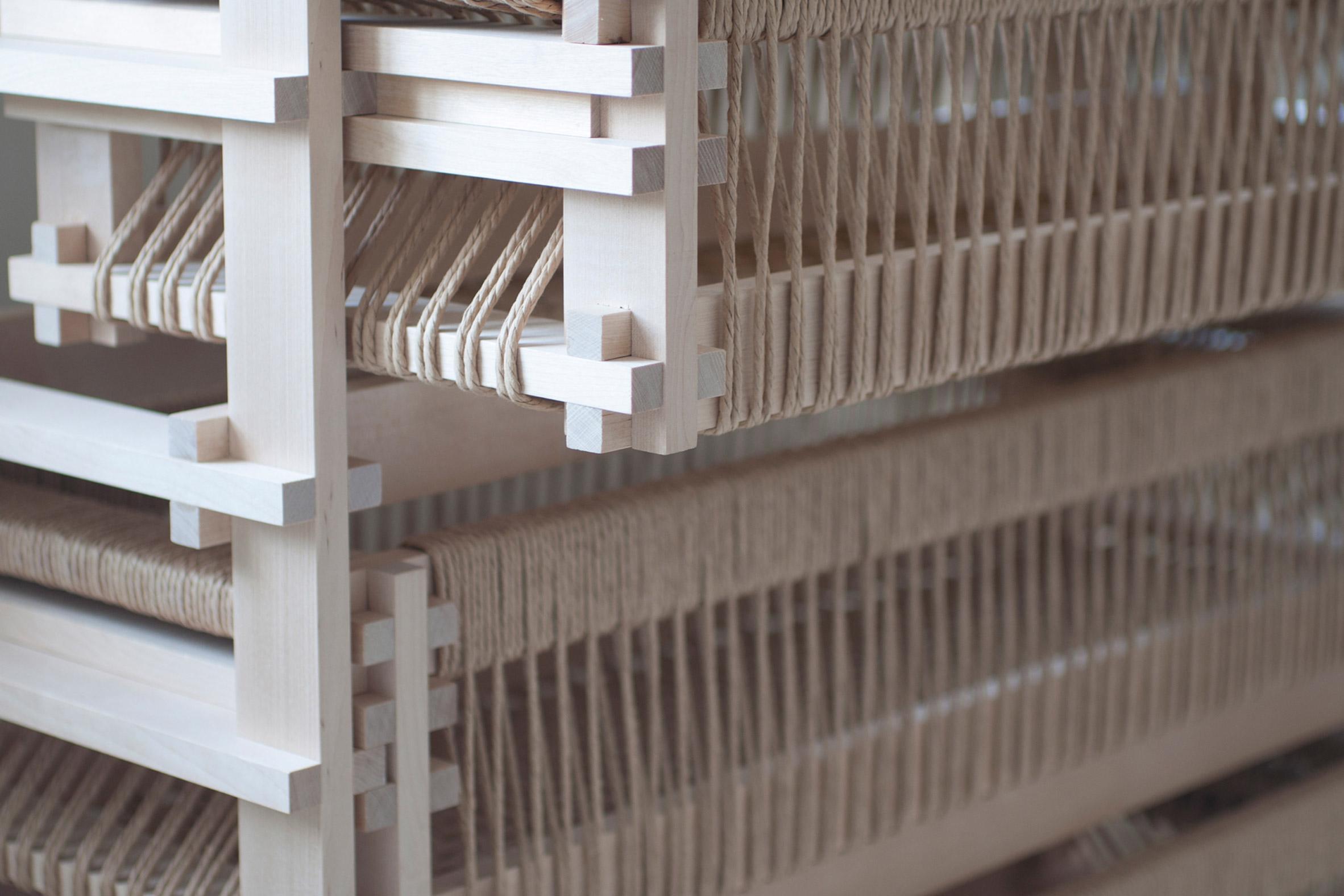 Close-up of Betula dresser by Martin Thübeck