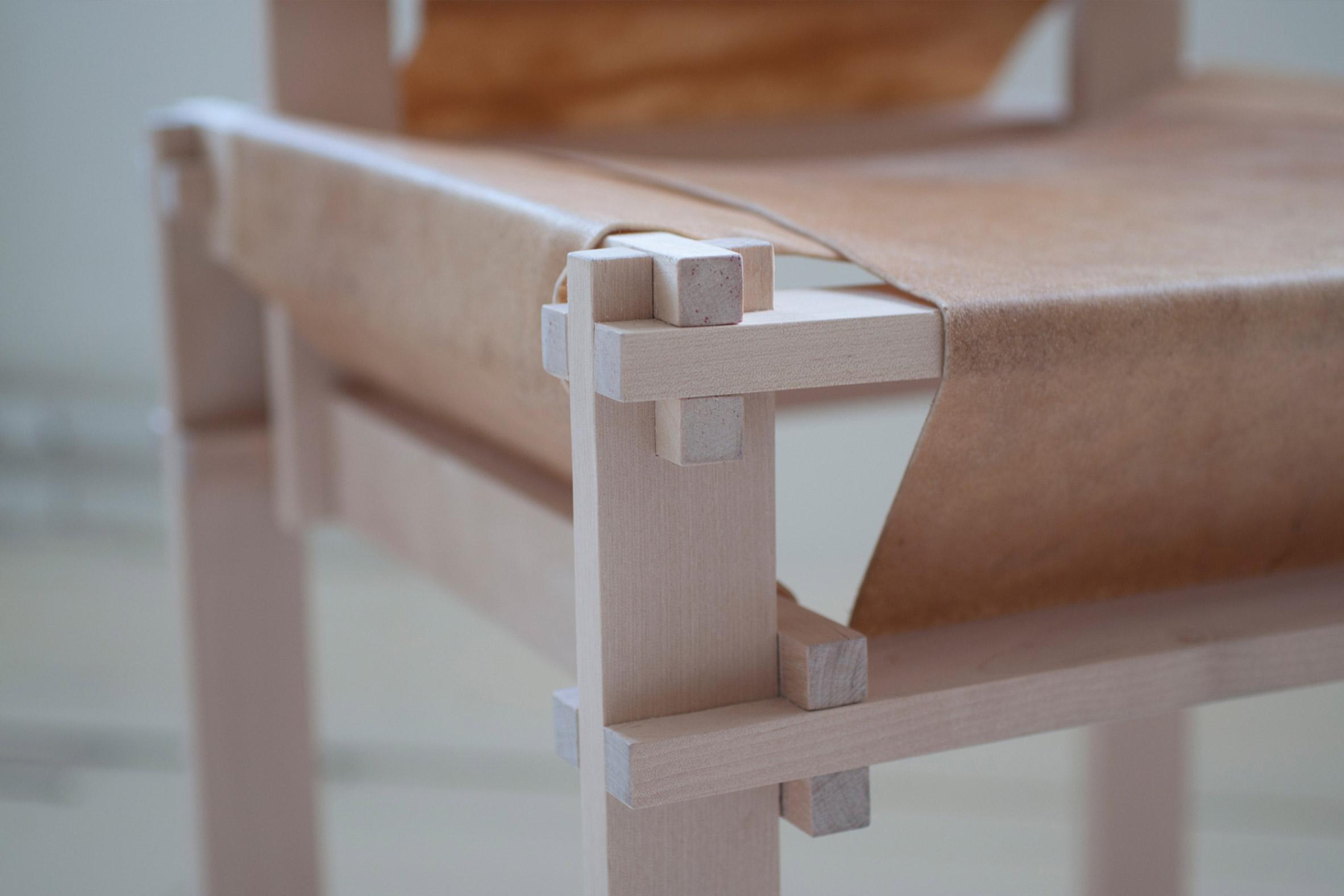 Close-up of Betula chair by Martin Thübeck