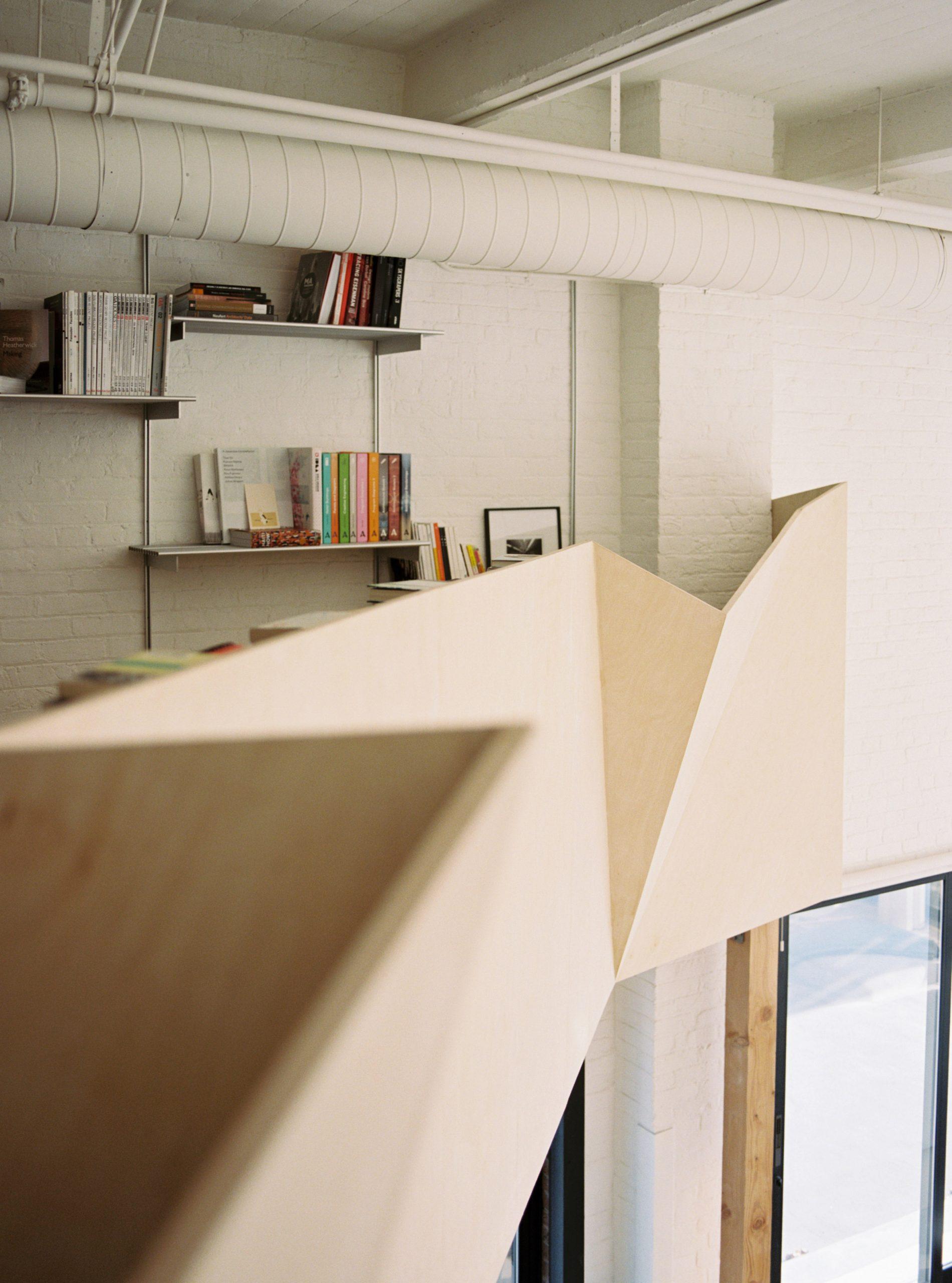 Mezzanine and guardrail of Biscuit Loft