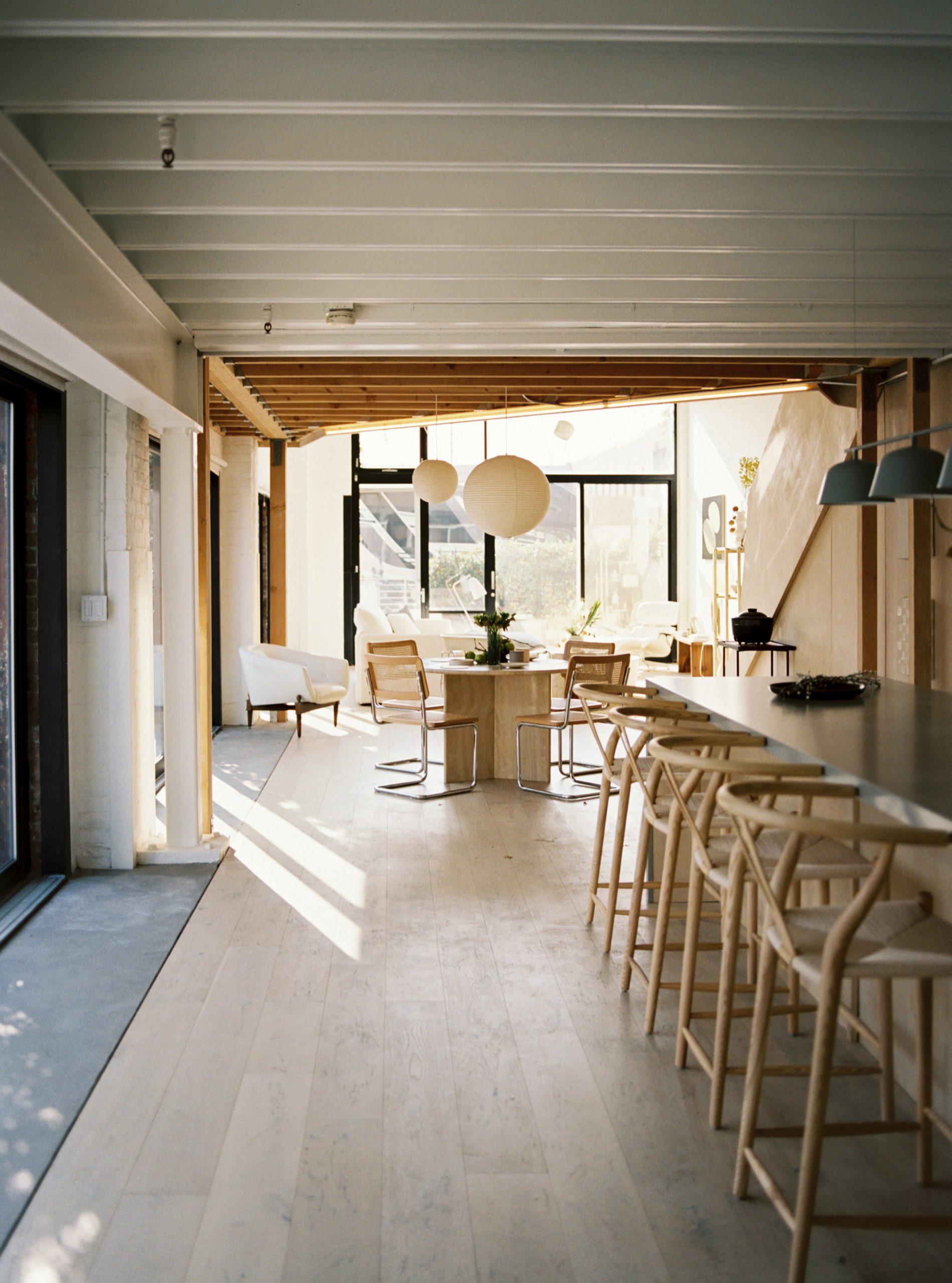 Open plan kitchen and diner in Biscuit Loft