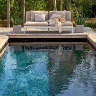 Bonan by Studio Norrlandet for Skargaarden on an outdoor poolside deck