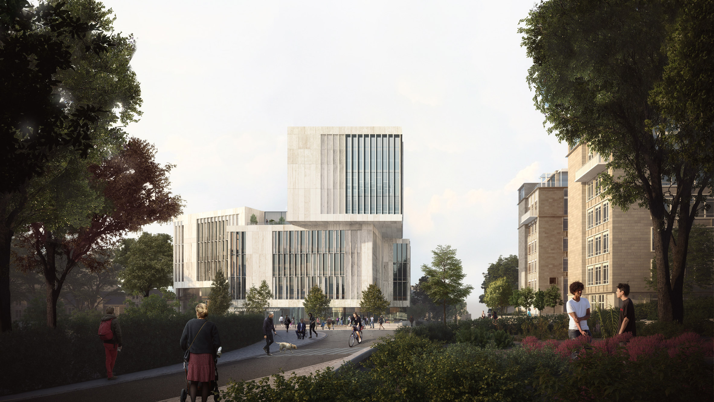 New University Library by Hawkins/Brown and Schmidt Hammer Lassen