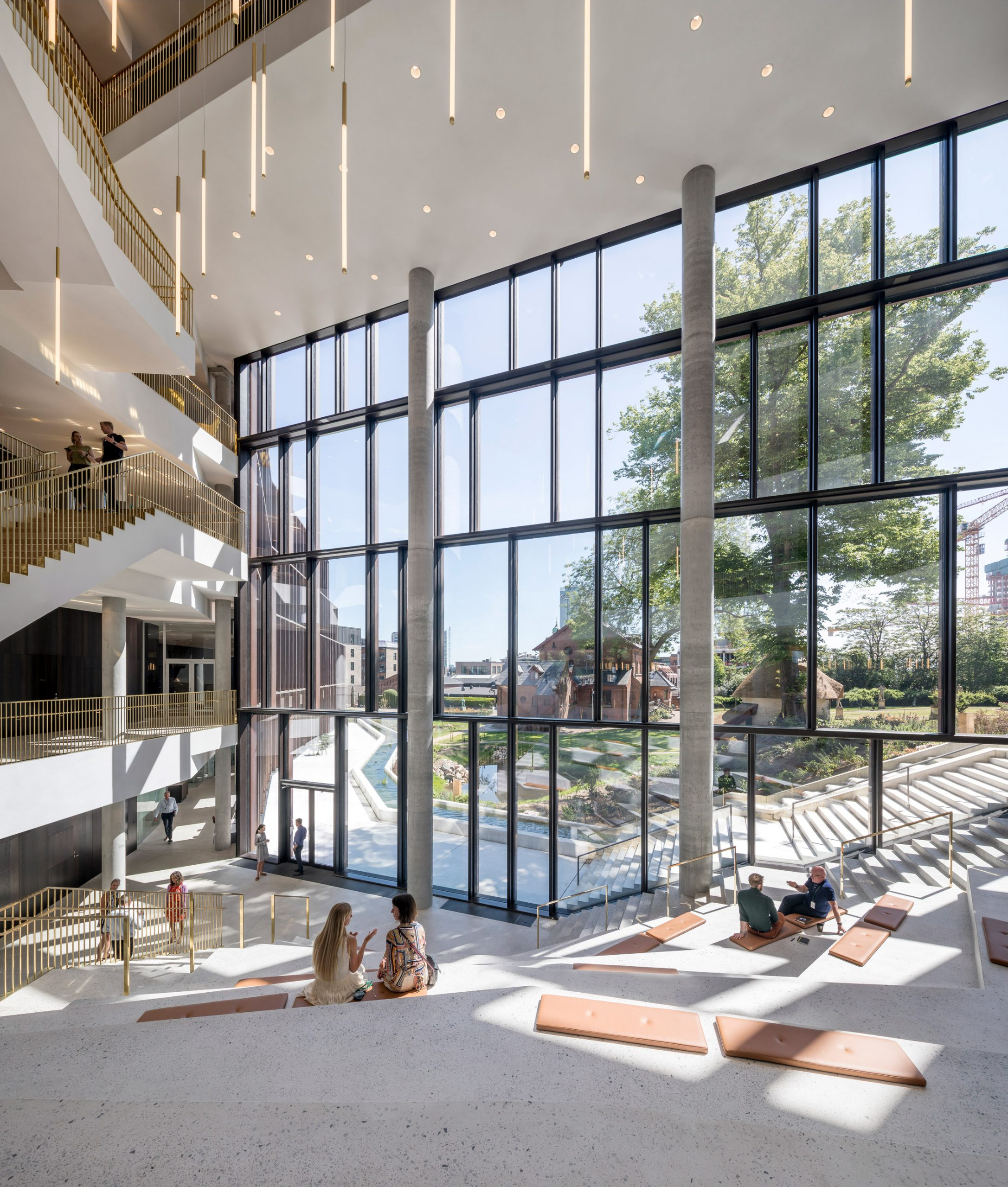 An atrium centres the building by CF Møller Architects