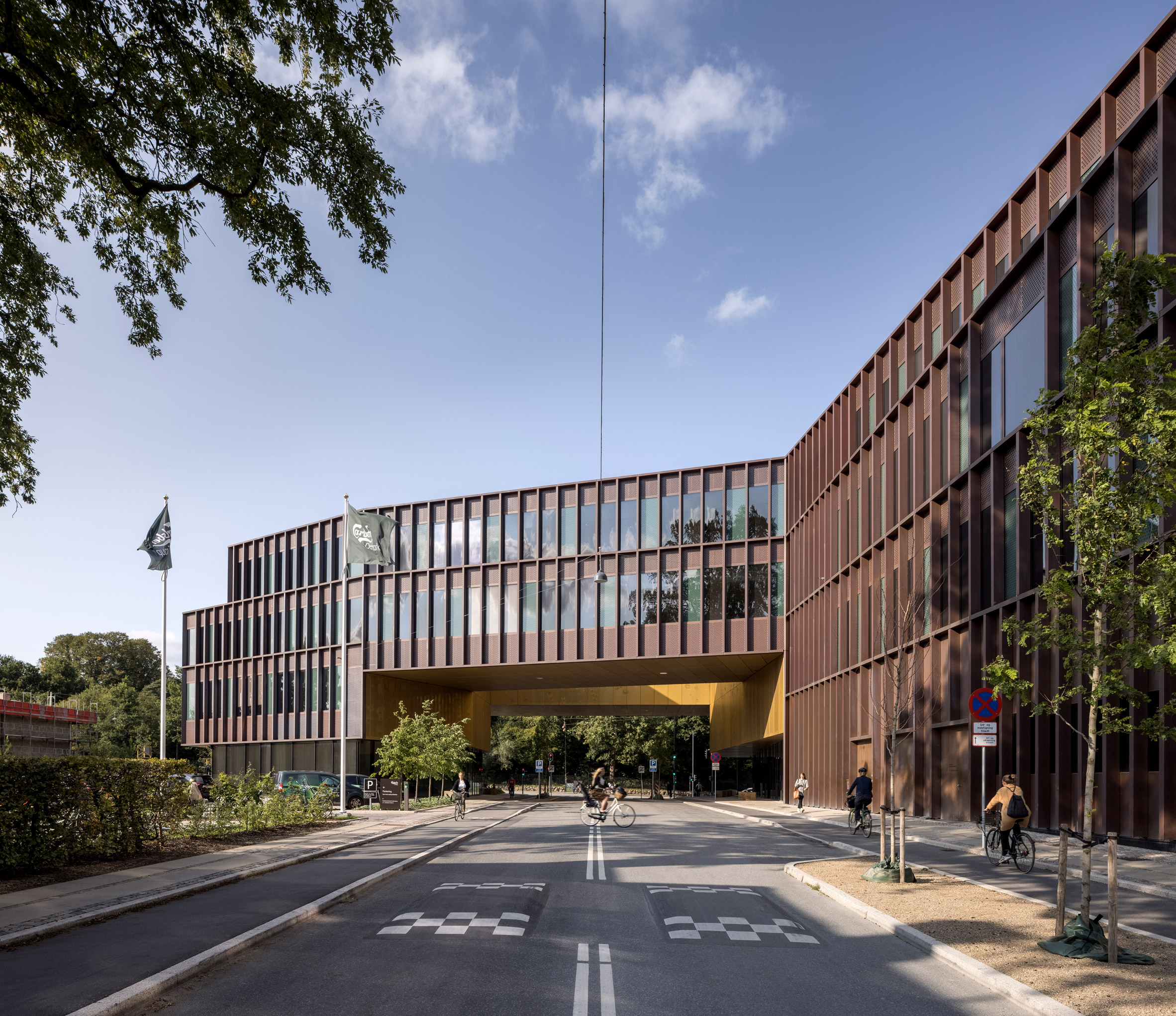 The building has a three legged plan by CF Møller Architects