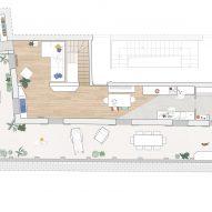 Casa ai Bailucchi by llabb upper level floor plan