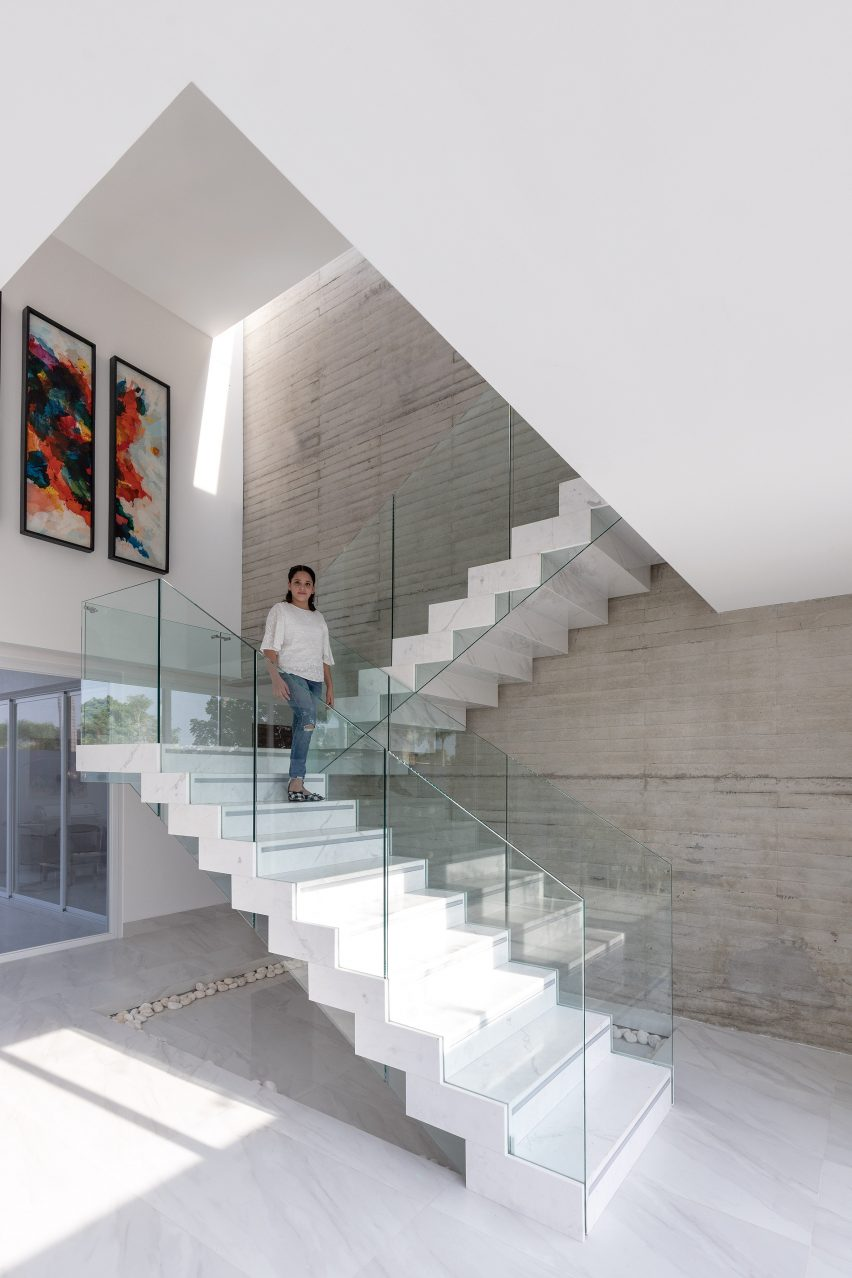 Staircase of Mocoli House in Equador