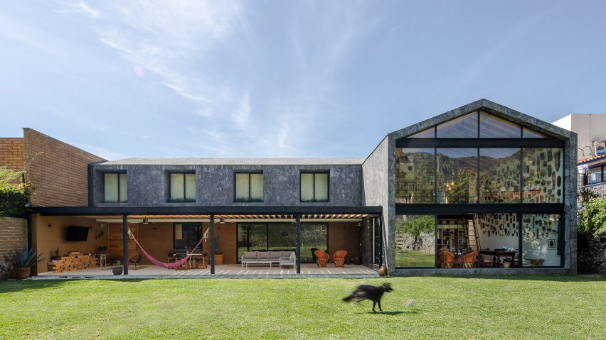 Casa Texcal is clad in grey stone