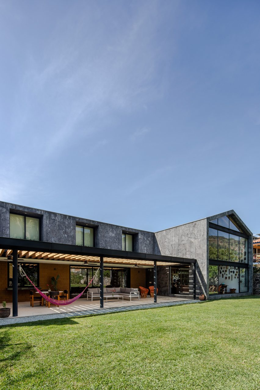Casa Texcal by HGR Arquitectos IS T-shaped in plan