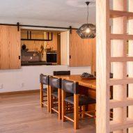 The wooden kitchen