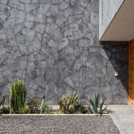 Grey stone makes up Casa Texcal's facade