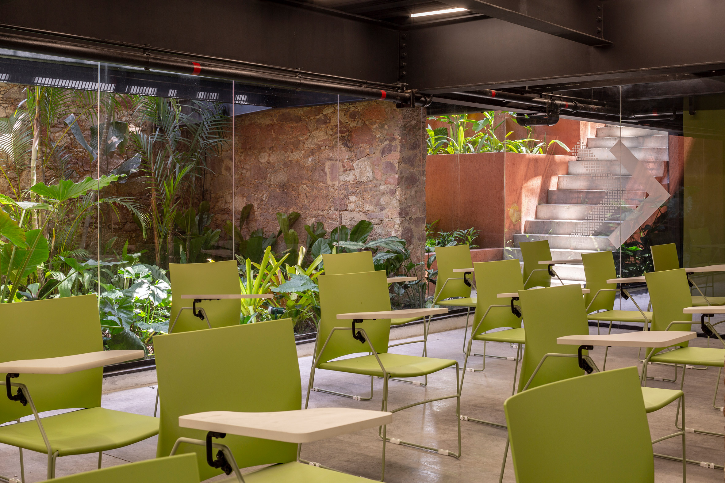 Interiors of co-working space in brazil by Laurent Troost Architectures