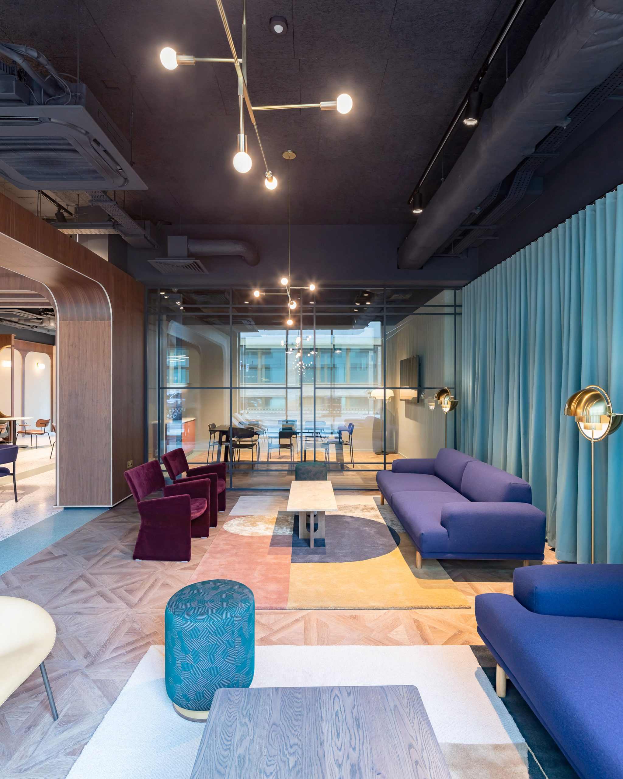 Sofas at Chapter Old Street by Tigg + Coll Architects