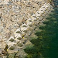 Man-made rock pools at San Diego Bay waterfront double as coastal defences