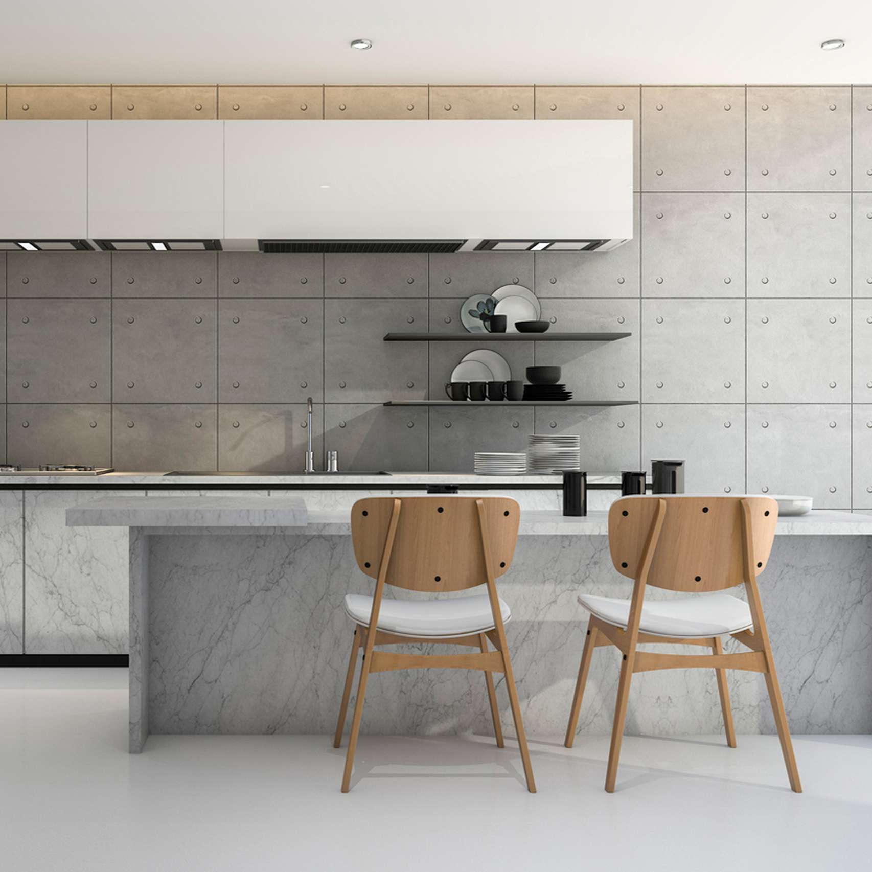 Concrete Optik coating by Ideal Work in a kitchen