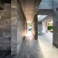 Inside a private stone spa in Austria