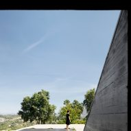 A view out from Cork Oak House by Hugo Pereira